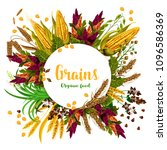 grains and organic food poster...   Shutterstock .eps vector #1096586369