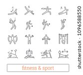 sport  fitness and gym exercise ... | Shutterstock .eps vector #1096588550