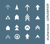 arrow icon set. web arrow... | Shutterstock .eps vector #1096589459