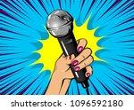 news comic text speech bubble.... | Shutterstock .eps vector #1096592180