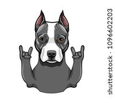 american staffordshire terrier. ...   Shutterstock .eps vector #1096602203