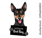 russian toy terrier prisoner.... | Shutterstock .eps vector #1096604804