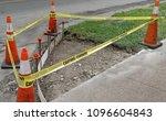 sidewalk corner handicapped... | Shutterstock . vector #1096604843