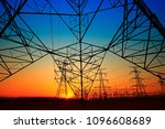 pylon  high voltage tower sky... | Shutterstock . vector #1096608689
