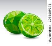 polygonal fruit   lime. low... | Shutterstock .eps vector #1096609376