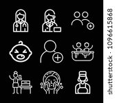 outline people icon set such as ... | Shutterstock .eps vector #1096615868