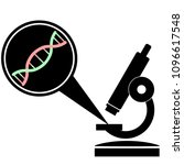 microscope and dna helix ... | Shutterstock .eps vector #1096617548