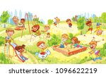 children's entertainment... | Shutterstock .eps vector #1096622219