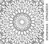 adult coloring page. black and... | Shutterstock .eps vector #1096626014