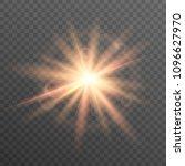 sun on transparent background.... | Shutterstock .eps vector #1096627970