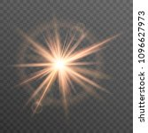 sun  rays and glow on... | Shutterstock .eps vector #1096627973