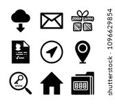 interface related set of 9...   Shutterstock .eps vector #1096629854