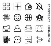 interface related set of 16...   Shutterstock .eps vector #1096630328