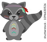 tribal woodland raccoon... | Shutterstock .eps vector #1096630526
