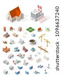 set of realistic isometric high ... | Shutterstock .eps vector #1096637240