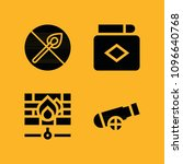 fire filled set of vector icons ... | Shutterstock .eps vector #1096640768
