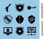 security filled set of vector... | Shutterstock .eps vector #1096640870