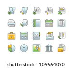 business icons | Shutterstock .eps vector #109664090