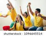 group of friends watching... | Shutterstock . vector #1096645514