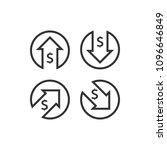 dollar increase decrease icon.... | Shutterstock .eps vector #1096646849