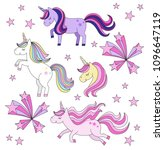 set of magical unicorns...   Shutterstock .eps vector #1096647119