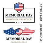 memorial day labels  vector... | Shutterstock .eps vector #1096648199