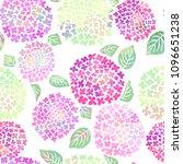 hydrangea flower seamless... | Shutterstock .eps vector #1096651238