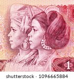 dong and yao women portrait on... | Shutterstock . vector #1096665884