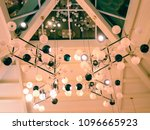 set of lamps under a roof in... | Shutterstock . vector #1096665923