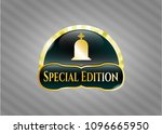 golden emblem or badge with... | Shutterstock .eps vector #1096665950