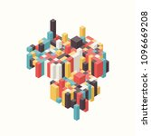 abstract colorful isometric... | Shutterstock .eps vector #1096669208