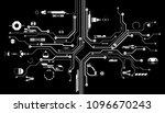hud futuristic circuit board...