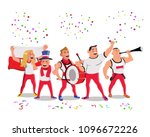 cheerful poland national team... | Shutterstock .eps vector #1096672226