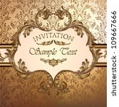 luxury golden invitation | Shutterstock .eps vector #109667666