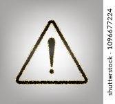 exclamation danger sign. flat... | Shutterstock .eps vector #1096677224