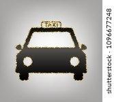 taxi sign illustration. vector. ... | Shutterstock .eps vector #1096677248