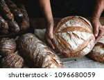 bread loaves food photography... | Shutterstock . vector #1096680059