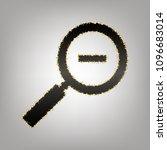 zoom sign illustration. vector. ... | Shutterstock .eps vector #1096683014
