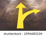 yellow arrow sign on road... | Shutterstock . vector #1096683134