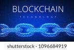 polygonal blockchain futuristic ... | Shutterstock . vector #1096684919