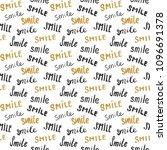 smile lettering seamless... | Shutterstock .eps vector #1096691378