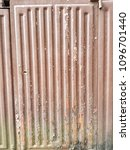 rusty surface of metal plate... | Shutterstock . vector #1096701440