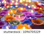 orchid candle with light float... | Shutterstock . vector #1096705229