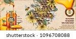 wild flower honey ads with 3d... | Shutterstock .eps vector #1096708088
