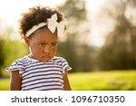 little girl being disciplined ... | Shutterstock . vector #1096710350