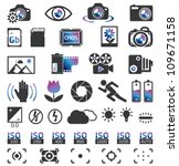 camera display screen symbols | Shutterstock .eps vector #109671158