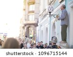 street entertainment   a man... | Shutterstock . vector #1096715144