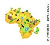 africa map animal isometric... | Shutterstock .eps vector #1096715390
