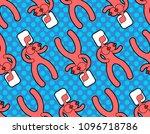 sex doll pattern seamless. sex... | Shutterstock .eps vector #1096718786