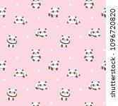 seamless pattern with cartoon... | Shutterstock .eps vector #1096720820